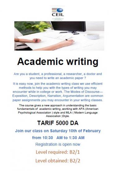 Acasemic writting