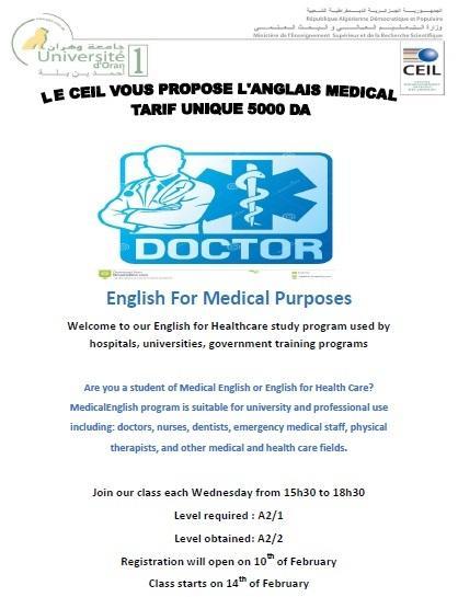 Anglais medical a2 2